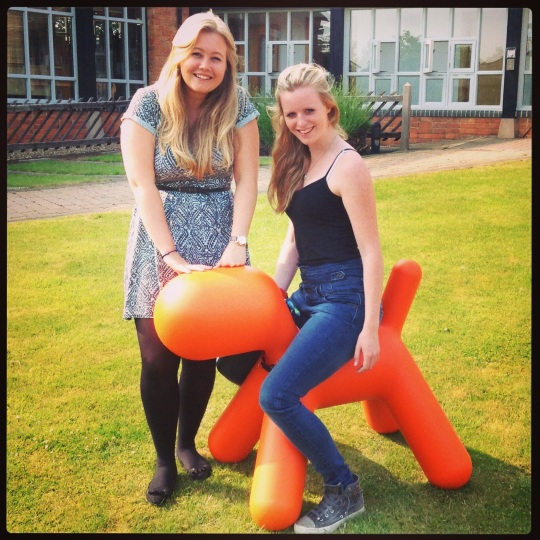 Amy with our other lovely intern, Emily, both have been working with the Twelve team over the last month.